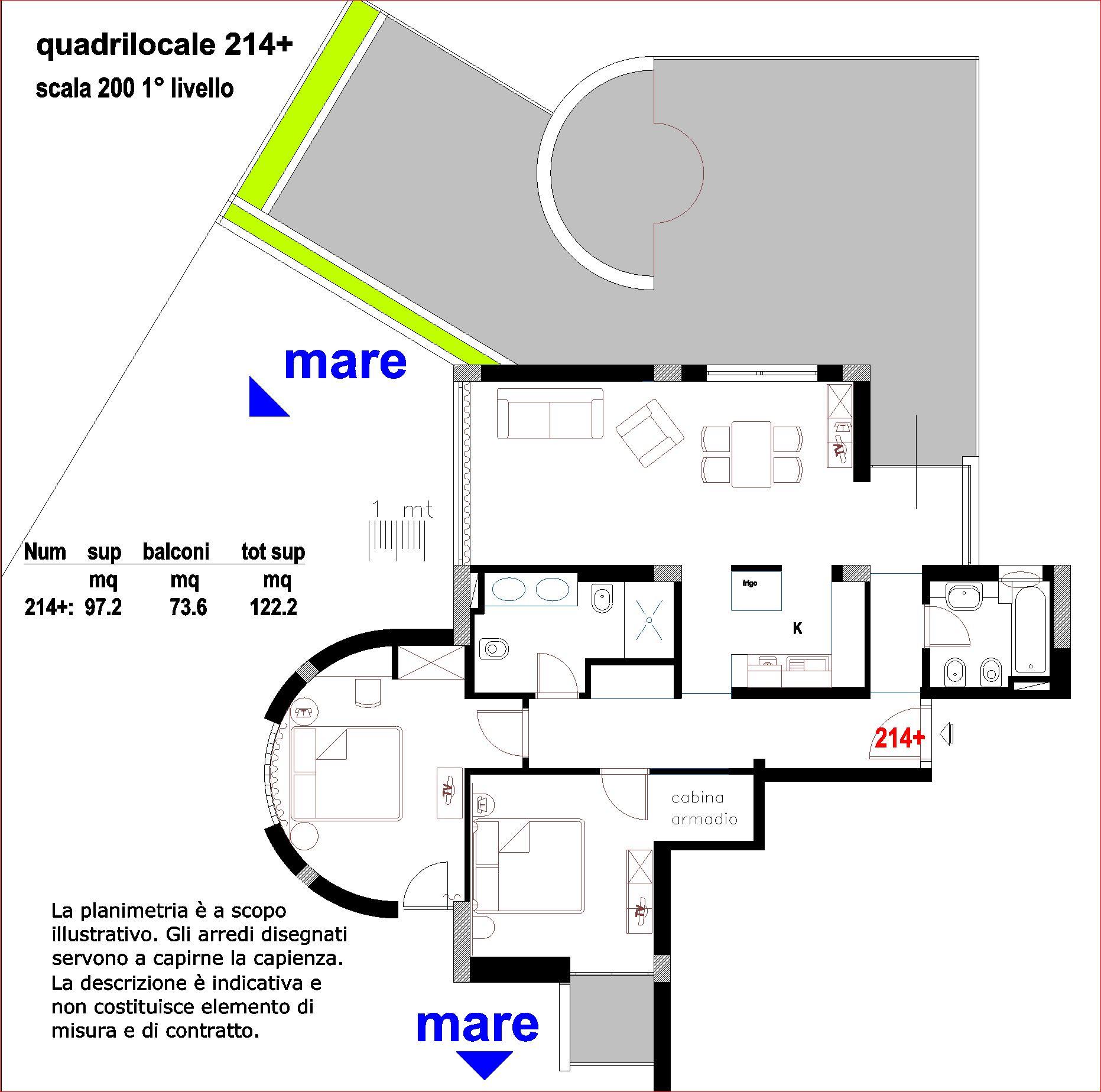 Quadrilocale 214+
